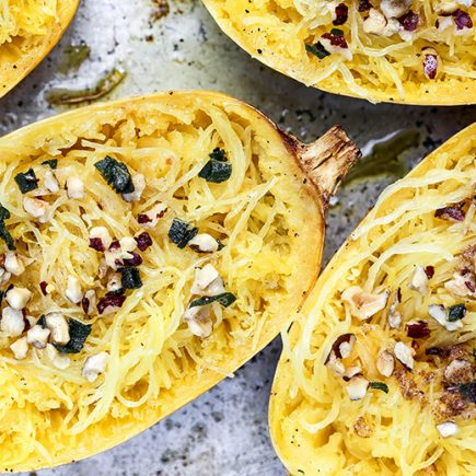 Roasted Spaghetti Squash with Browned Butter | www.floatingkitchen.net