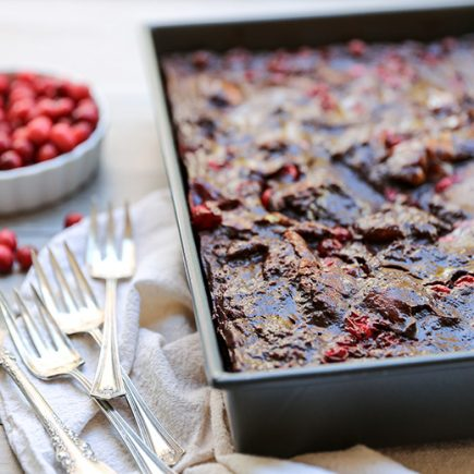 Chocolate-Cranberry Bread Pudding | www.floatingkitchen.net