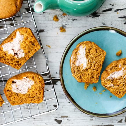 Pumpkin Cream Cheese Muffins | www.floatingkitchen.net