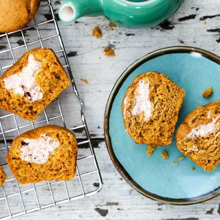 Pumpkin Cream Cheese Muffins | www.floatingkitchen.net