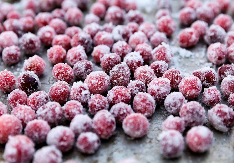 Sparkling Sugared Cranberries