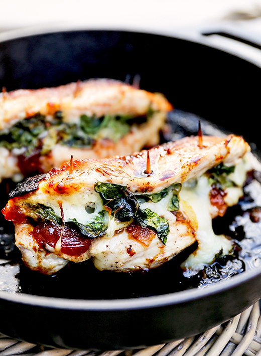 Apple Cranberry Chutney, Spinach and Mozzarella Stuffed Chicken Breasts   www.floatingkitchen.net