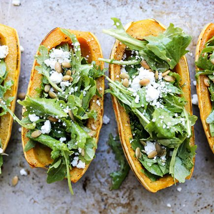 Delicata Squash Salad Bowls | www.floatingkitchen.net
