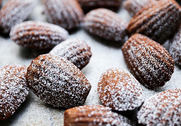 Chocolate Hazelnut Madeleines
