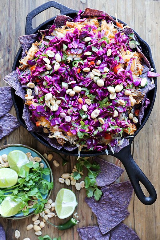 Sweet and Spicy Thai Chicken Nachos | www.floatingkitchen.net