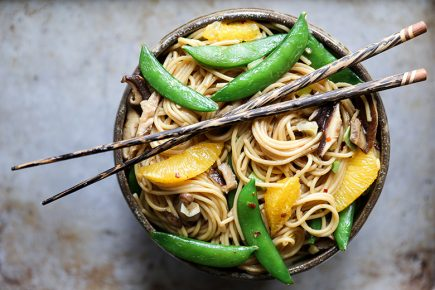 Vegetable Noodle Stir Fry with Orange | www.floatingkitchen.net