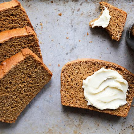 Guinness Molasses Bread with Maple Butter | www.floatingkitchen.net