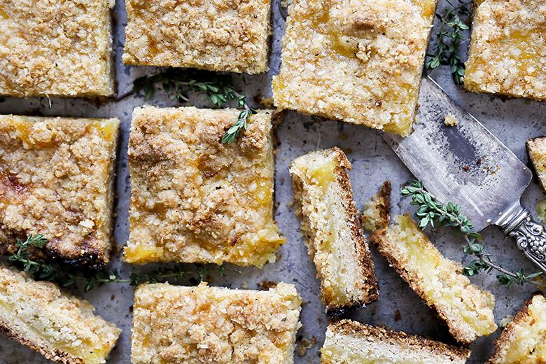 Lemon-Thyme Pie Bars | www.floatingkitchen.net