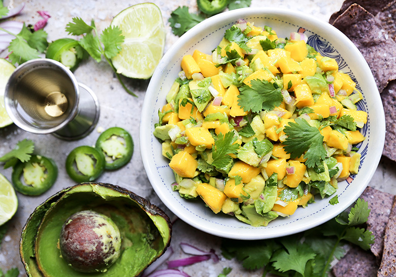 Tequila-Spiked Mango and Avocado Salsa