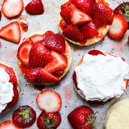 Strawberry Shortcake with Lemongrass-Basil Whipped Cream | www.floatingkitchen.net