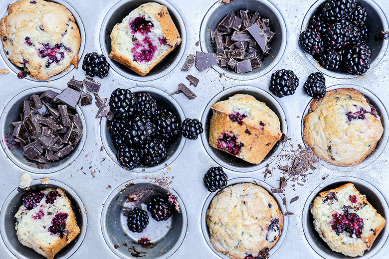 Blackberry-Chocolate Chunk Muffins