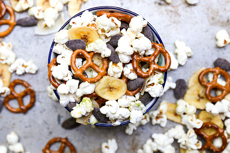 Tropical Popcorn Snack Mix | www.floatingkitchen.net