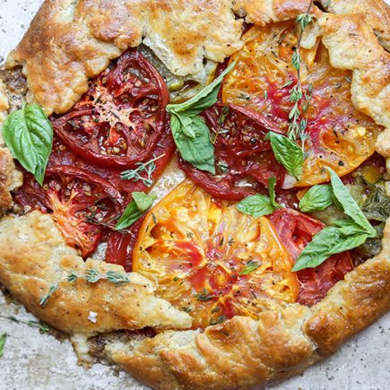 Heirloom Tomato and Hazelnut Galette | www.floatingkitchen.net