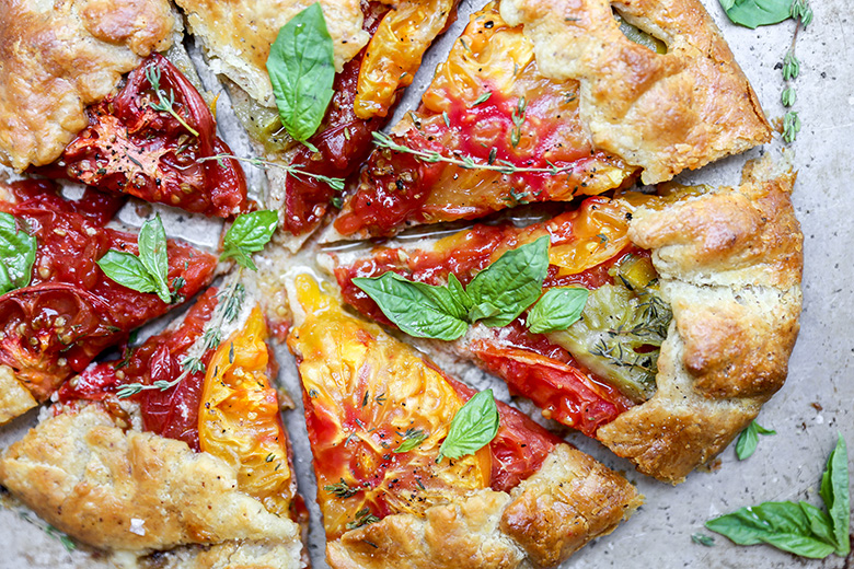 Heirloom Tomato and Hazelnut Galette