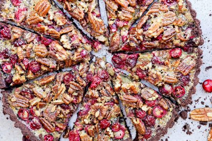 Chocolate Cranberry Pecan Tart {Gluten-Free} | www.floatingkitchen.net