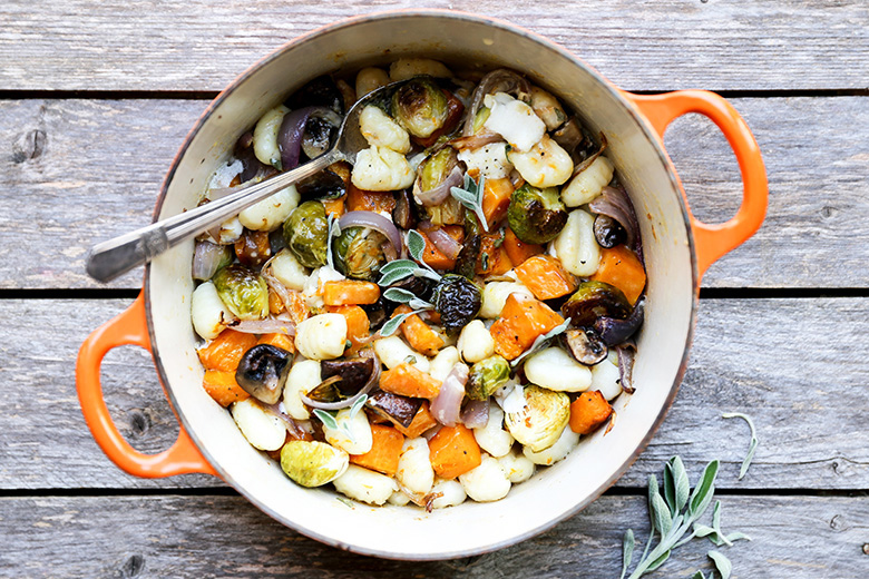Gnocchi and Winter Vegetables with Sage Cream Sauce | www.floatingkitchen.net