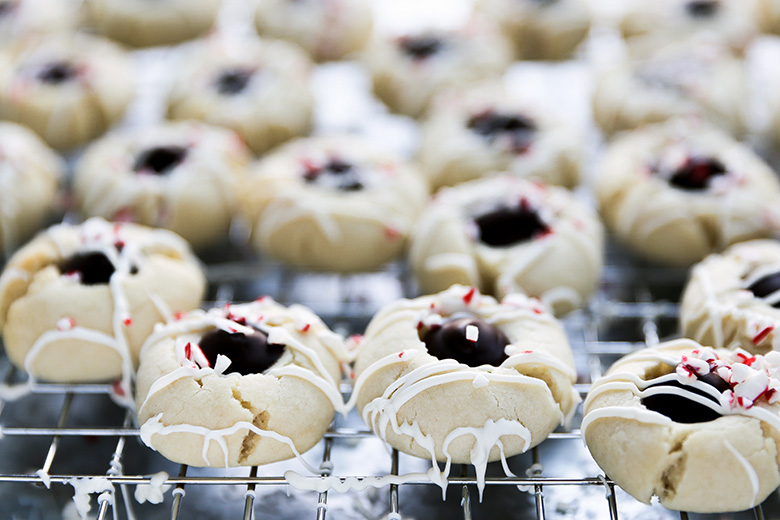 Peppermint Chocolate Thumbprint Cookies Floating Kitchen