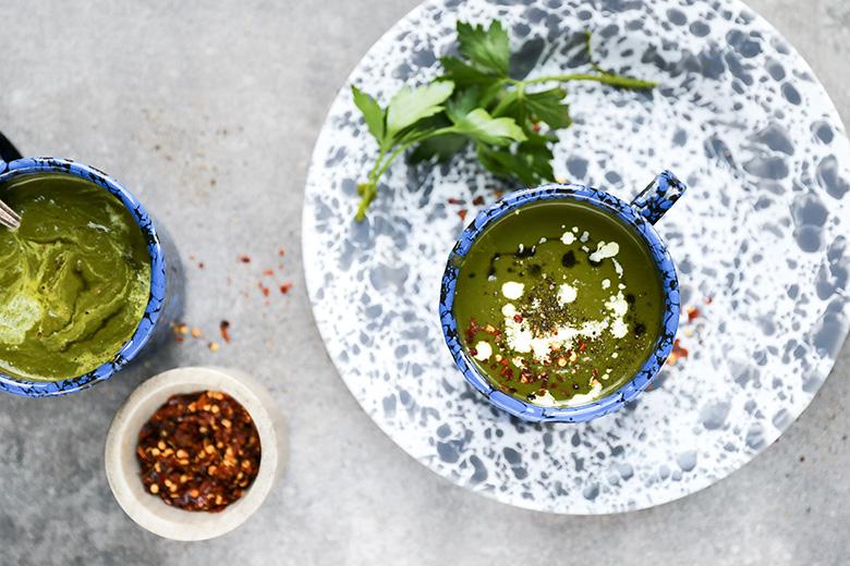 Kale and Apple Soup | www.floatingkitchen.net