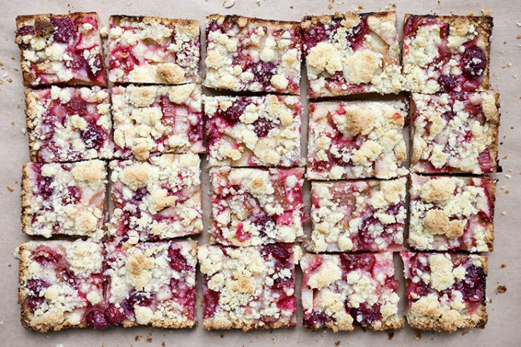 Cherry-Rhubarb Pie Bars