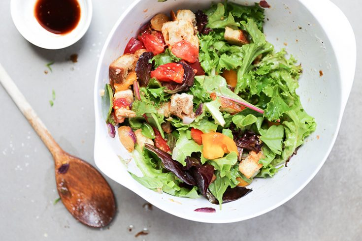 Panzanella Salad with Roasted Garlic