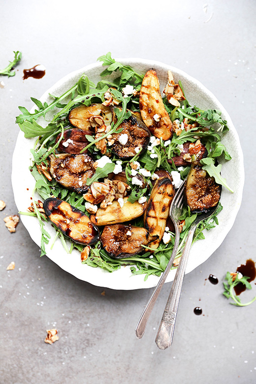 Grilled Potato and Fig Salad with Maple-Almond Clusters | www.floatingkitchen.net