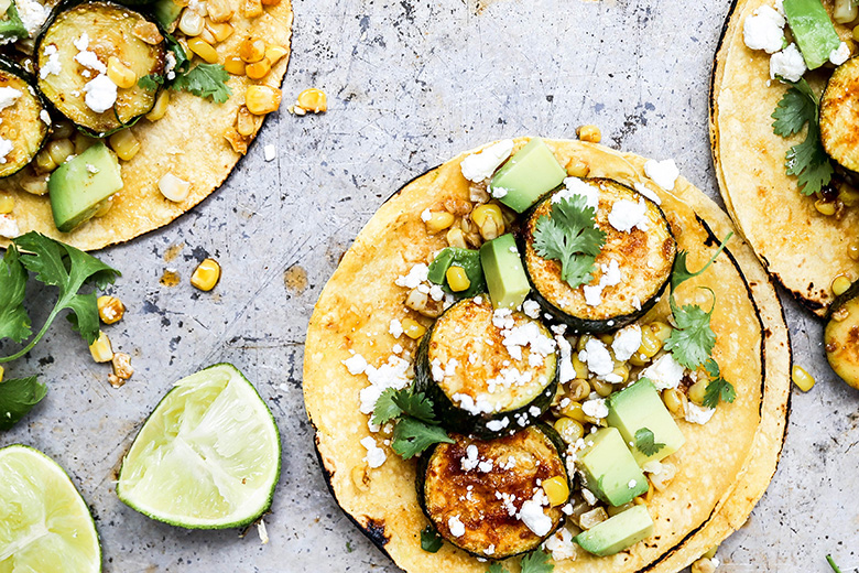 Chipotle Zucchini and Corn Tacos | www.floatingkitchen.net