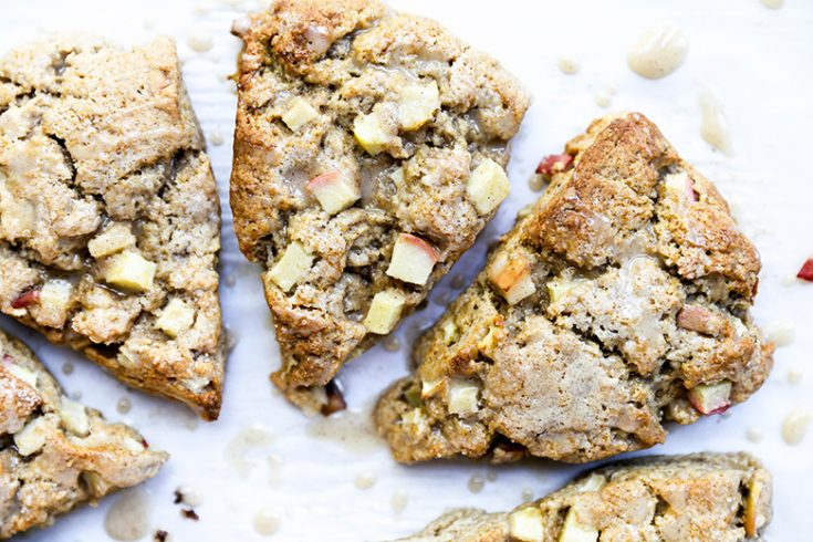 Chai Spiced Apple Scones with Apple Cider Glaze