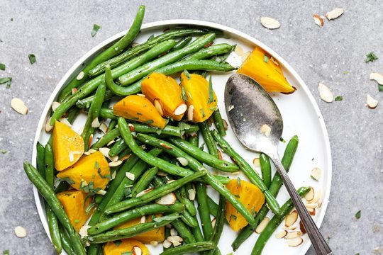 Green Beans and Golden Beets with Tarragon and Almonds   www.floatingkitchen.net