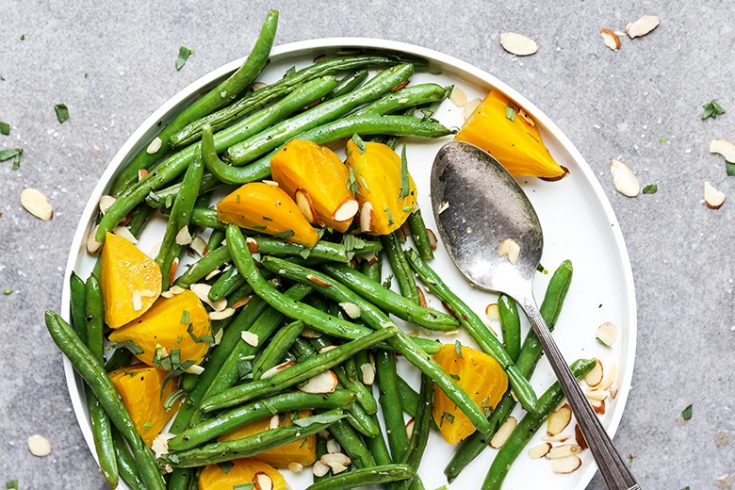 Green Beans and Golden Beets with Tarragon and Almonds