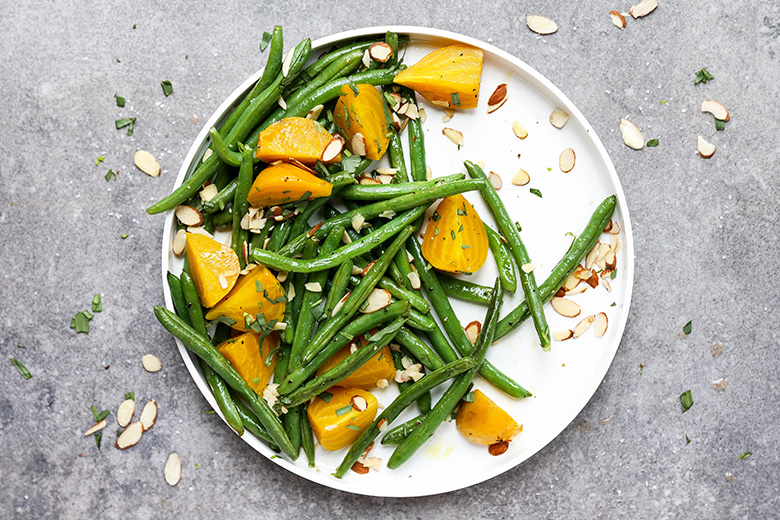 Green Beans and Golden Beets with Tarragon and Almonds | www.floatingkitchen.net
