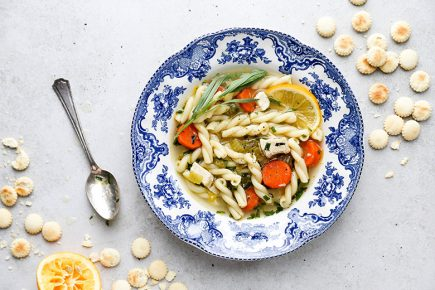 Lemony Chicken Noodle Soup with Tarragon and Ginger | www.floatingkitchen.net