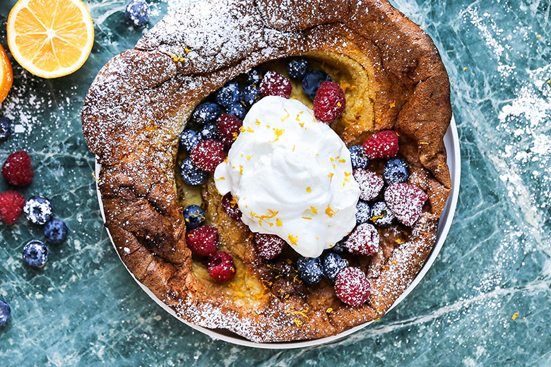 Meyer Lemon Dutch Baby Pancake | www.floatingkitchen.net