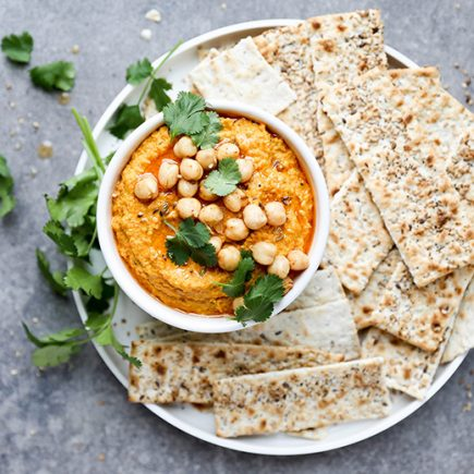 Spiced Roasted Carrot Hummus | www.floatingkitchen.net