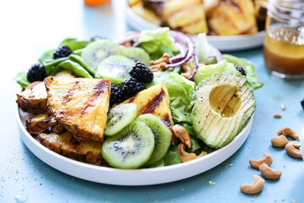 Charred Pineapple Salad | www.floatingkitchen.net