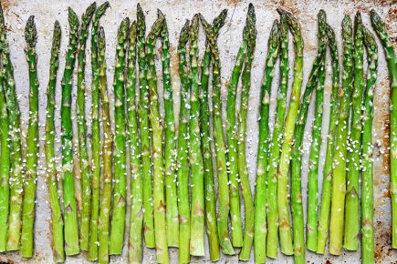 Roasted Asparagus with Miso Butter | www.floatingkitchen.net
