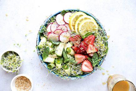 Honey-Miso Summer Salad Bowls | www.floatingkitchen.net