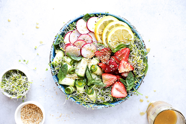 Honey-Miso Summer Salad Bowls | www.floatingkitchen.net