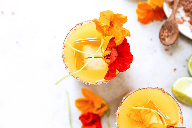 Nasturtium Margaritas | www.floatingkitchen.net