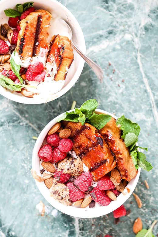 Almond Butter and Jam Grilled Pound Cake Bowls | www.floatingkitchen.net