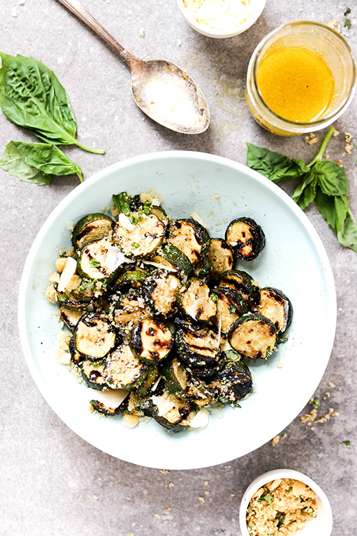 Grilled Zucchini with Browned Butter Bread Crumbs | www.floatingkitchen.net