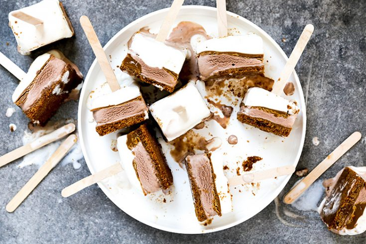 Easy Layered Ice Cream Speculoos Pops