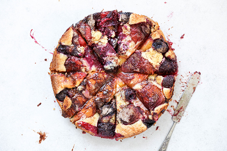 Rustic Stone Fruit Torte | www.floatingkitchen.net