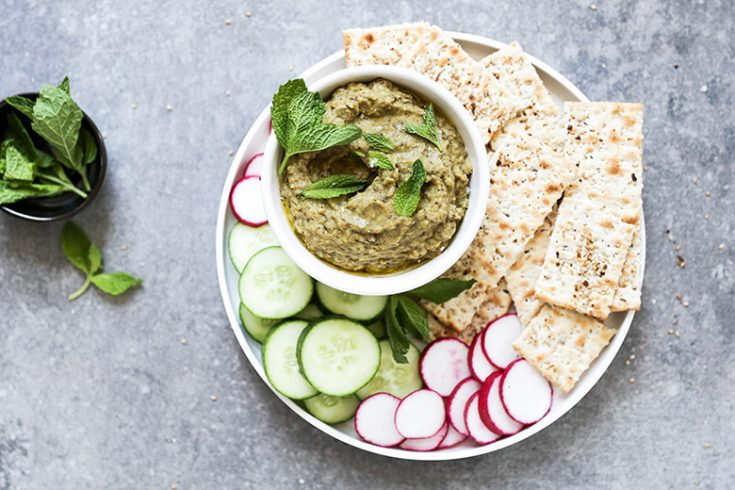 Persian Style Eggplant and Yogurt Dip