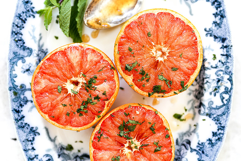 Baked Grapefruit with Mint | www.floatingkitchen.net