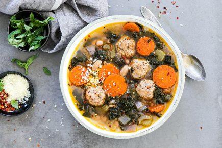 Chicken Meatball Soup | www.floatingkitchen.net
