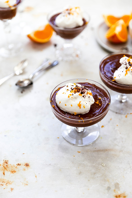 Earl Grey and Orange Infused Blender Chocolate Mousse | www.floatingkitchen.net