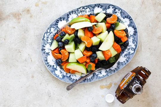 Fruit Salad with Maple Dressing {Plus my Formula for Making the Best Fruit Salads}   www.floatingkitchen.net