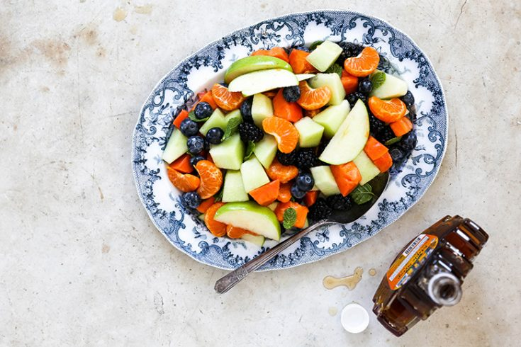 Fruit Salad with Maple Dressing {Plus my Formula for Making the Best Fruit Salads}