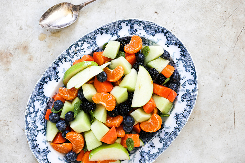 Fruit Salad with Maple Dressing {Plus my Formula for Making the Best Fruit Salads} | www.floatingkitchen.net