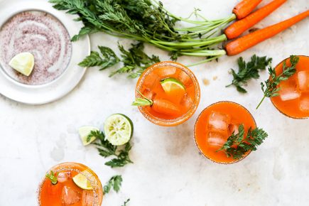 Smoky Carrot Mezcal Margaritas | www.floatingkitchen.net